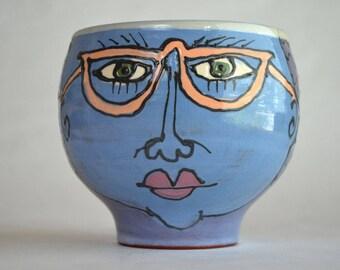 Gordon James Pottery Face Bowl Quadra Island British Columbia Canadian Art