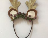 Frosted Berry Reindeer Ears...READY TO SHIP