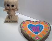 Vintage Groovy Love Heart Box