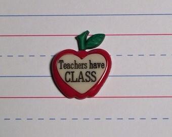 Teachers Class Pin
