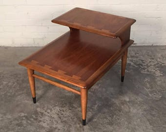 Lane Acclaim Mid-Century Modern 2-Tier Walnut End Table / Superior Condition - SHIPPING NOT INCLUDED