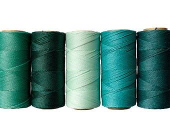 50 meters Waxed Cord Linhasita - Macrame Cord, Bracelet Thread, Waxed Polyester, Jewelry Cord