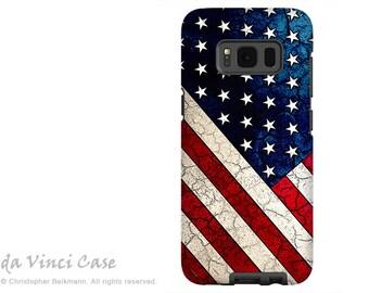 Samsung Galaxy S8 PLUS Case - American Flag Galaxy S 8 PLUS Case - Flag -  Dual Layer USA Tough Case