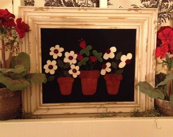 Potted Posies Wool Applique Kit