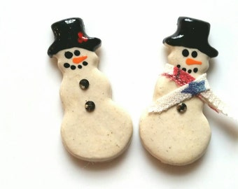 Snowman Pin, Frosty the Snowman, Christmas  Jewelry, Stocking  Stuffer, Ugly Sweater Accessory