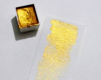 Gold Mica - Handmade Watercolor Paint