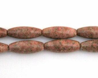 Full Strand of Brazil Agate Rice Gemstone Beads