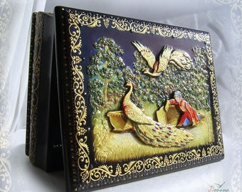 "Original Box ""the Firebird"". Handcrafted"