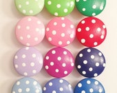 Flash sale Polka Dot Dresser Knobs, Nail Covers or Closet Door Knobs