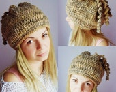 Women slouchy beanie Women hat Natural Artisan hat Oversized hat Chunky hat