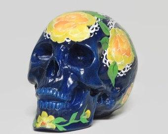 Ceramic Día de los Muertos Suger Skull