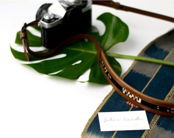 THE WANDERLY  || Camera Strap Leather, Camera Strap Vintage, Turkish Kilim, Camera Straps, Womens Neck Strap, High Quality Camera Strap