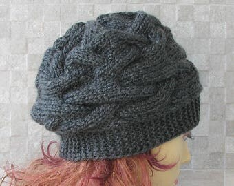 Woman Hat - Oversized Winter Hat Chunky Knit Slouchy Beanie Soft and Confortable Ladies Fashion Hat