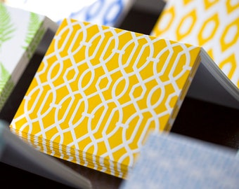 Yellow Trellis Letterpress Card Set