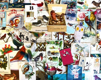 Birds of Christmas*Christmas Inspiration Kit*Vintage Christmas Ephemera Paper Pack