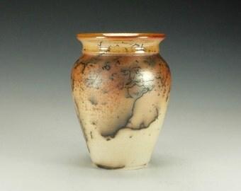 Horse Hair Raku Pottery Vase.  Terra Sigillata, hand polished.  Ready to ship.