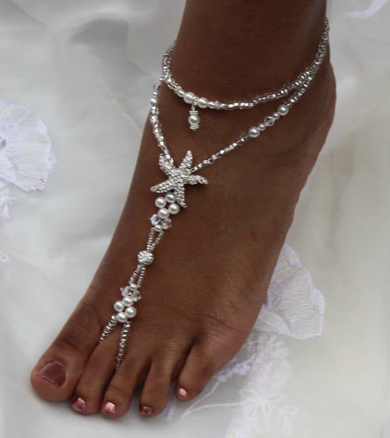 Beach Wedding Barefoot Sandals Foot Jewelry Anklet Destination