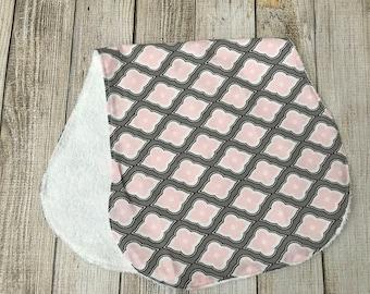 Pink/Gray Burp Cloth