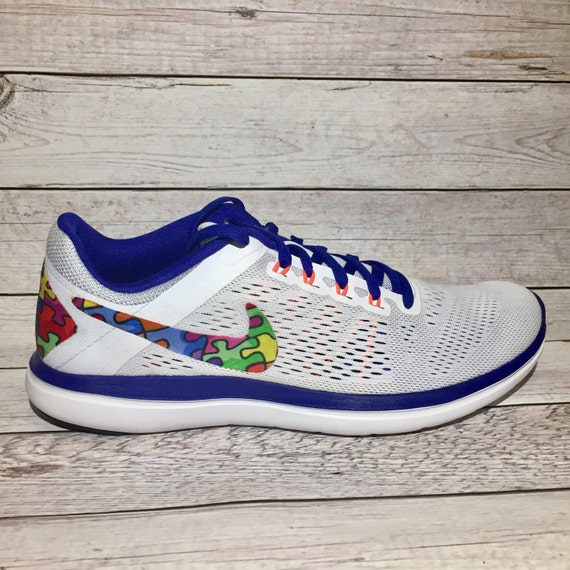 c26004e37d5f58 new Autism awareness shoes autism speaks nike by DAMFancyCreations ...