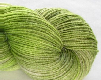 Hand-Dyed Sock Yarn - Woolly-Paca - Light Chartreuse