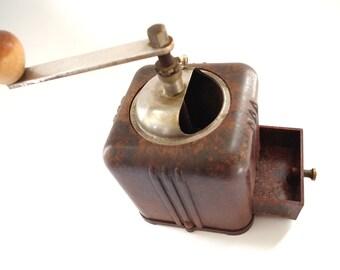 Vintage Art Deco Coffee Grinder Brown Plastic Bakelite 1930s