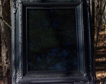 Black Ornate Scrying Mirror 11x14