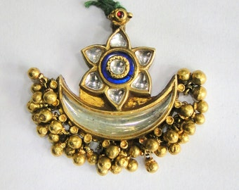 Vintage antique solid 20K Gold jewelry Pendant Amulet Necklace