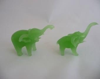 Jade Elephants, African Elephants, Green Elephants