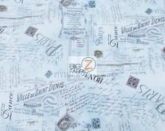 "100% Cotton Fabric By Wilmington Prints  - Oh La La Paris Touch - 45"" Width Sold By The Yard (FH-2471)"