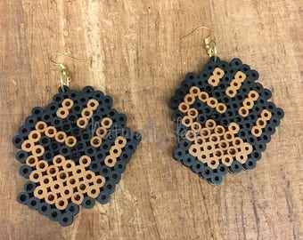 FIST *Pride* Pixel Earrings - Natural Hair Earrings - Pixel Art