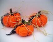 Halloween, Thanksgiving Pumpkins, Fall Decor, Autumn Decor, Home Decor, Home and Living, Handmade, Fabric, Felt and Netting, One-of-a-kind