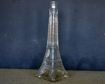 Vintage Eiffel Tower Souvenir Bottle | French Bottle | Paris | French Style | Unique Vase
