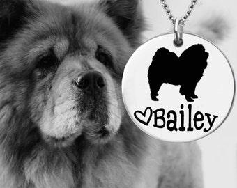 Chow Chow Necklace   Chow Chow Jewelry   Personalized Dog Necklace   Personalized Gift   Korena Loves