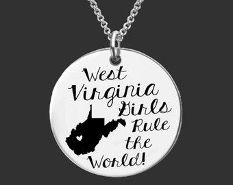 West Virginia | State Necklace | Bridesmaid Gifts | Friend Gift | Daughter Gift | Best Friend Gifts | Korena Loves