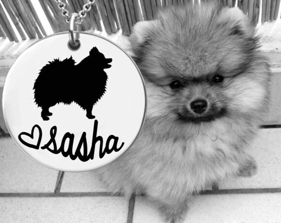 Pomeranian Necklace | Pomeranian Jewelry | Personalized Dog Necklace | Personalized Gifts | Korena Loves
