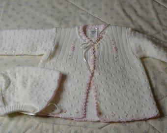 Vintage Sweater and Hat for a Baby Girl size 12 months