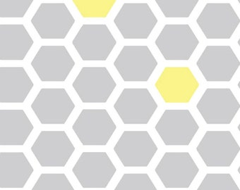 Flannel Fitted Sheet - Gray and Yellow Nursery Bedding