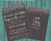 ON SALE! Gender Reveal Invitation, Confetti Gender Reveal Party Invitation, Gender Reveal Invite, gender reveal, baby reveal, couples shower