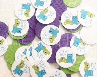 Monsters Inc Baby Shower Confetti