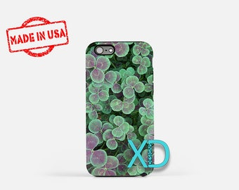Clover iPhone Case, Clover Pattern iPhone Case, Clover iPhone 8 Case, iPhone 6s Case, iPhone 7 Case, Phone Case, iPhone X Case, SE Case