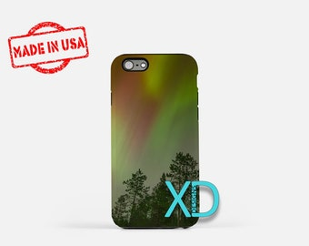 Aurora Borealis iPhone Case,  Forest iPhone Case, Nature iPhone 8 Case, Tree, iPhone 6s Case, iPhone 7 Case, Phone Case, Safe Case, SE Case