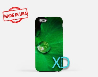 Leaf iPhone Case, Water Droplet iPhone Case, Nature iPhone 8 Case, Leaves, iPhone 6s Case, iPhone 7 Case, Phone Case, iPhone X Case, SE Case