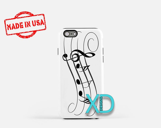 Music Notes iPhone Case, Stanza iPhone Case, Music Notes iPhone 8 Case, iPhone 6s Case, iPhone 7 Case, Phone Case, iPhone X Case, SE Case