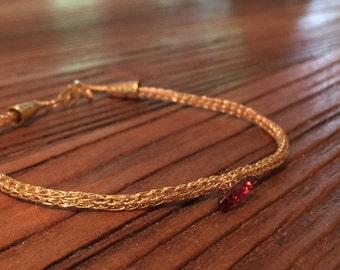 Sliver of Sunshine Viking Knit Bracelet