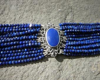 Lapis Bracelet, Antique Brooches, Art Deco Jewelry, Gemstone Bracelet, Gemstone Jewelry, Blue Brooch, Blue Bracelet, Blue Jewelry, Lapis