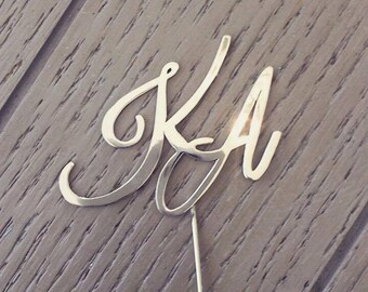 Monogram Boutonniere for Groom & Groomsmen -- Made to Order -- Custom Made