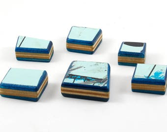 Recycled Skateboard Magnets