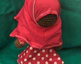 Cute crochet Doll with Hijaab!! (SALE)