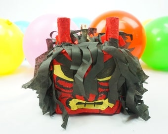 Pre-filled Pinata Treat Box Japanese Demons I Set Of 3 | Japanese Themed Party  | Loot Bags | Fun Tabletops | Party Favors