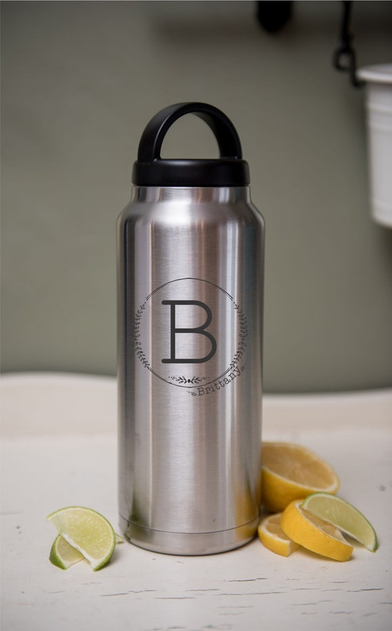 Stainless Water YETI or RTIC brand Laser Engraved Drink Travel Bottle Personalized Eco Friendly Gift Stainless Steel